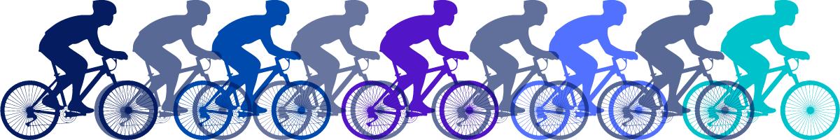 img stilizzata ciclisti